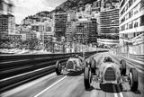 Reclameposter racewagens Monte Carlo Posters