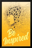 Be Inspired (Lass dich inspirieren - Motivationsposter) Kunstdrucke