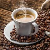 Caffè del mattino con versi Stampe