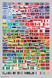Fahnen der Welt nach Farben angeordnet Kunstdrucke