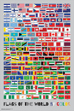 Vlaggen van de wereld gesorteerd op kleur Foto