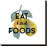 Eat Kind Stretched Canvas Print by Kristine Hegre