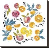 Fruit Basket Stretched Canvas Print by Kristine Hegre