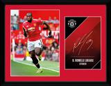 Manchester United - Lukaku 17-18 Stampa del collezionista