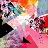Abstracte achtergrond Kunst op gespannen canvas van  Tanor