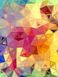 Abstracte, gekleurde driehoeken Kunst op gespannen canvas van  art_of_sun