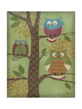 Fantasy Owls Vertical I Print by Paul Brent