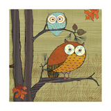 Awesome Owls I Kunstdrucke von Paul Brent