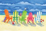 Brighton Chairs Affiches par Paul Brent