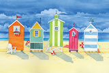Brighton Huts Poster by Paul Brent