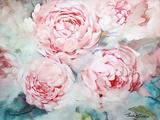 Pink Peonies II Art by Paula Giltner
