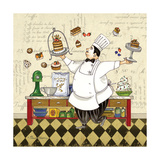 Chef Pastry Posters by Pamela Gladding