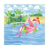 Martini Float Flamingo Poster von Paul Brent