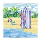 Cabana Flamingo Kunstdruck von Paul Brent