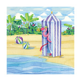 Cabana Flamingo Print by Paul Brent