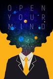 Tekst: Open Your Mind (Stel je open op) Poster