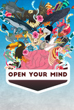 Open Your Mind (Erweitere deinen Horizont) Kunstdruck