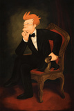 Philip Fry As Abraham Lincoln Poster