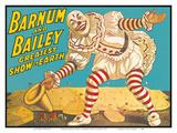 Barnum & Bailey Circus - Greatest Show on Earth - Clown Standing over Tents Kunstdrucke von  Pacifica Island Art