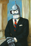 Bender As President Reagan Stampe