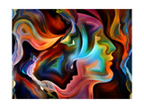 Forces of Nature Series. Arrangement of Colorful Paint and Abstract Shapes on the Subject of Modern Premium gicléedruk van  agsandrew