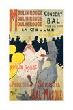 Moulin Rouge-La Goulue Julisteet tekijänä Henri de Toulouse-Lautrec