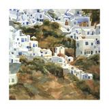 Santorini Hillside III Poster von Edie Fagan