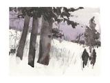 Woodland Sketch II Premium Giclee Print by Samuel Dixon