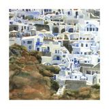 Santorini Hillside II Prints by Edie Fagan