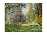 Landscape-The Parc Monceau Giclée-Premiumdruck von Claude Monet