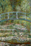Bridge over a Pond of Water Lilies Kunst von Claude Monet