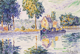 View of the Seine, Samois Affischer av Paul Signac