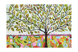 Tree Abstract Print by Karen Fields