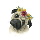 Flower Crown Pup I Premium Giclee Print by Grace Popp