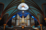 Pipe Organ of Montreal Notre-Dame Basilica (French: Basilique Notre-Dame De Montreal), Montreal, Qu Fotografisk trykk av  jiawangkun