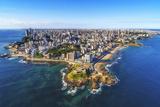 Aerial View of Salvador Da Bahia Cityscape, Bahia, Brazil. Photographic Print by R M Nunes