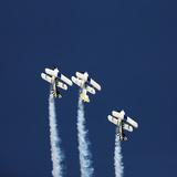 Three Aerobatic Aeroplanes Flying Straight up during an Airshow Photographic Print by Johan Swanepoel