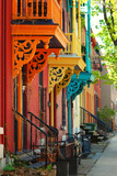 Old Architecture in Montreal Fotografisk trykk av Brian Burton Arsenault