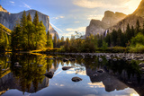 Sunrise on Yosemite Valley, Yosemite National Park, California Fotografie-Druck von Stephen Moehle