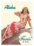 Aloha from Hawaii USA Poster por Toni Frissell