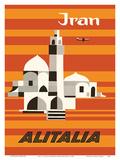Iran - Alitalia Airlines - Middle-East Poster von Ennio Molinari