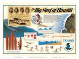 The Big Surf of Hawaii - Primo Hawaiian Beer - Hawaii Brewing Company Poster von  Pacifica Island Art