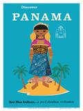 Discover Panama - San Blas Indians...a Pre-Columbian Civilization Poster von  Pacifica Island Art