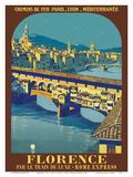 Florence, Italy - Ponte Vecchio - Chemins de fer de Paris-Lyon-Méditerranée (PLM) Stampe di  Pacifica Island Art