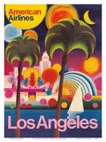 Los Angeles, California - American Airlines Poster di  Pacifica Island Art