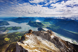 Swiss Alps View from Mount Pilatus, Lucerne Switzerland Photographic Print by Justin Black