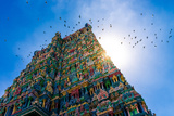 Meenakshi Hindu Temple in Madurai, Tamil Nadu, South India Fotografisk trykk av Val Shevchenko