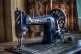 Old Sowing Machine Photographic Print by Nathan Wright