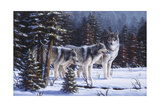 Winter Coats Giclee Print by R.W. Hedge