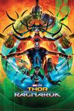 Thor: Ragnarok - Thor, Hulk, Valkyrie, Loki, Hela, Heimdall, Grandmaster Affiches